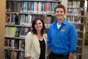 JCLI Executive Director Kate Lasky and Worksource Business Services Coordinator Graham Hetland.