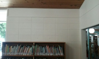 Photo of wall space in the Illinois Valley children's library.